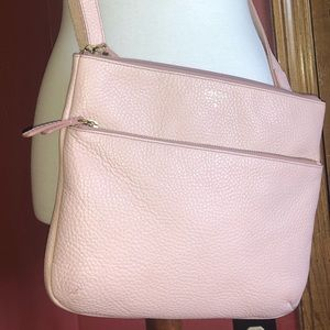 Authentic Fossil Crossbody Purse Light Pink